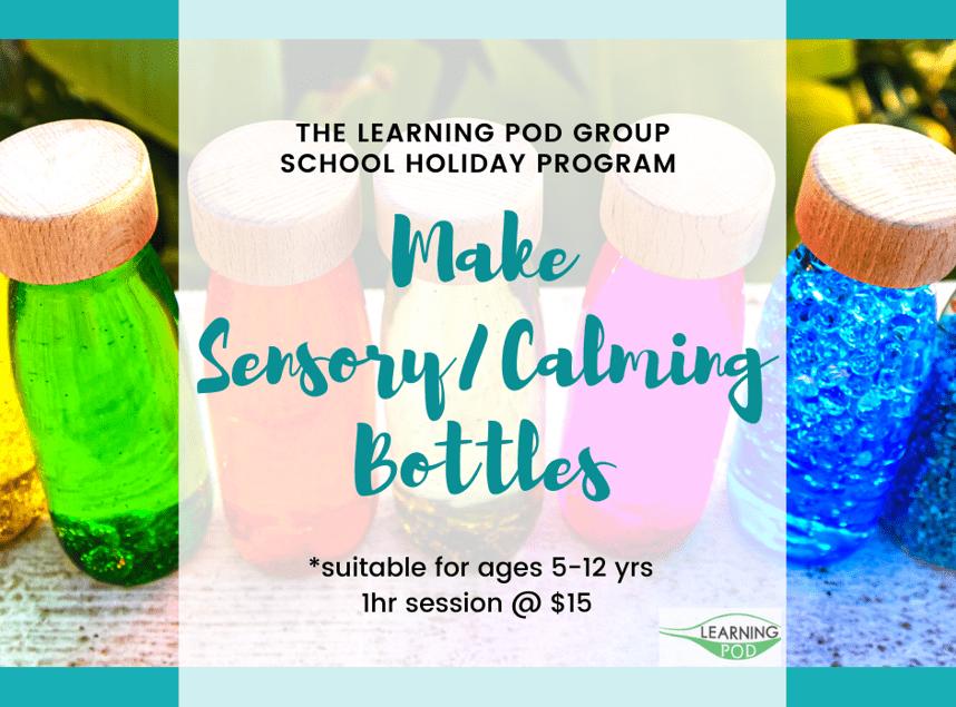 April School Holidays Sensory Calming Bottles